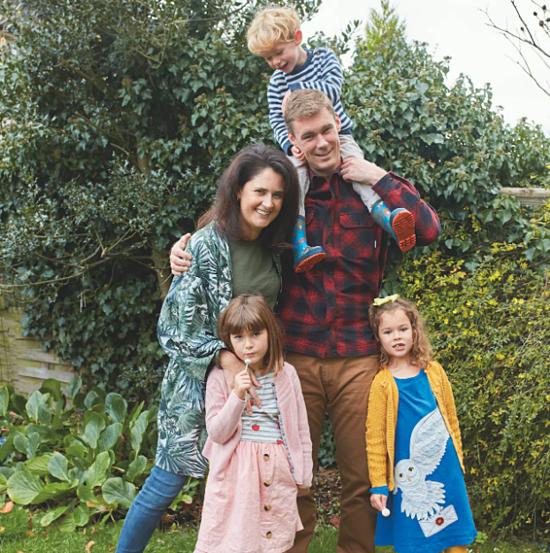 Vợ chồng Chanelle, Ben và các con. Ảnh: Telegraph