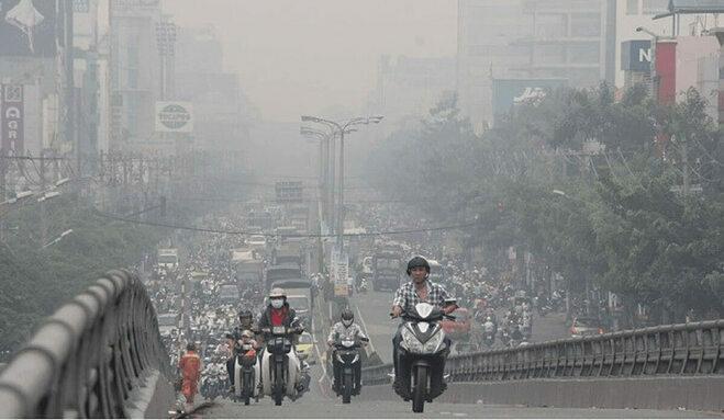 Mật độ xương và khối lượng xương thấp hơn khi tiếp xúc với ô nhiễm không khí. Ảnh: eTurbo News