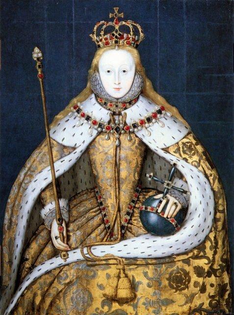 Chân dung Nữ hoàng Elizabeth I, Anh, có khuôn mặt trắng nhờ sử dụng chì trắng. Ảnh: Vintage News
