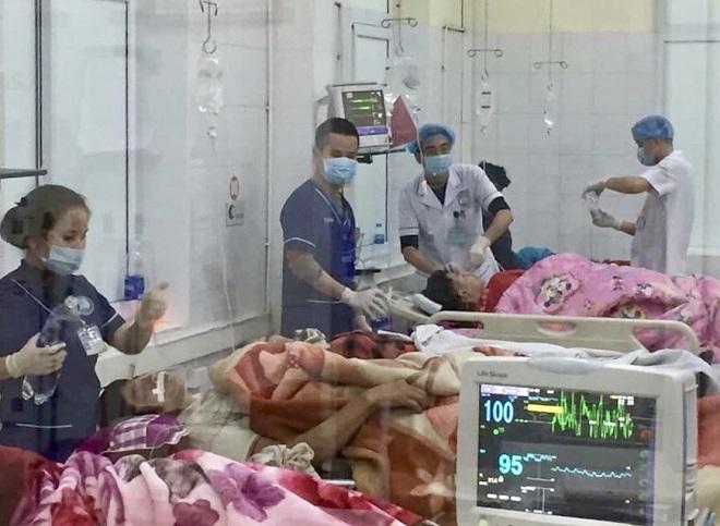 Bệnh viện kích hoạt báo động đỏ để cấp cứu bệnh nhân. Ảnh: Bác sĩ cung cấp