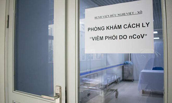 Phòng khám cách ly bệnh do nCoV tại Bệnh viện Hữu nghị Việt - Xô. Ảnh: Nguyễn Chi.