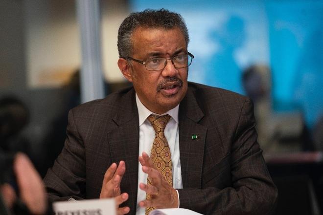 Tổng giám đóc WHO Tedros Adhanom Ghebreyesus trong cuộc họp khẩn ngày 30/1. Ảnh: WHO
