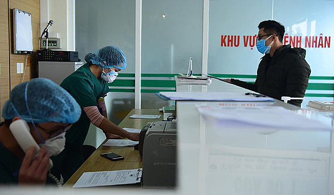 Bệnh viện Bệnh Nhiệt đới Trung ương cơ sở Đông Anh, nơi cách ly điều trị hai bệnh nhân viêm phổi nCoV, chiều 31/1. Ảnh: Giang Huy.