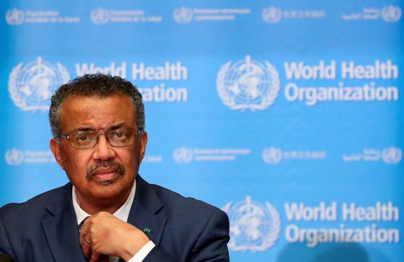 Ông Tedros Adhanom Ghebreyesus -Tổng giám đốc tổ chức Y tế thế giới   thừa nhận thế giới đang đối diện với tình trạng thiếu khẩu trang - Ảnh: REUTERS