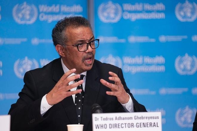 Tổng giám đốc WHO Tedros Adhanom Ghebreyesus phát biểu trong buổi họp báo ngày 11/2. Ảnh: WHO