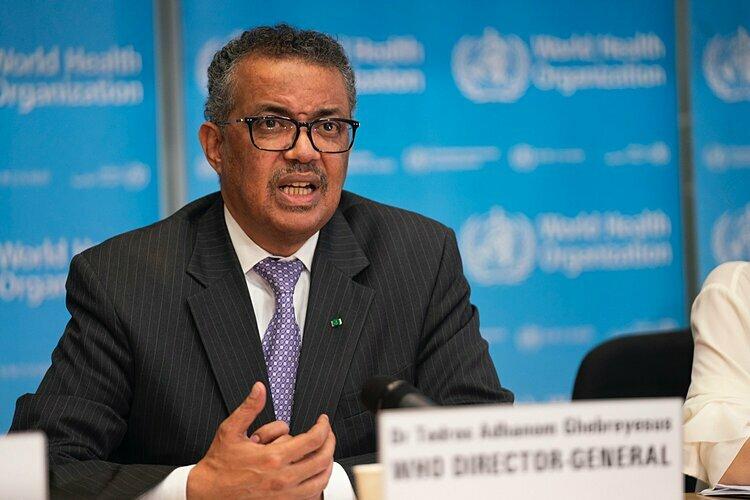 Tổng giám đốc WHO Tedros Adhanom Ghebreyesus  trong cuộc họp ngày 9/3. Ảnh: WHO