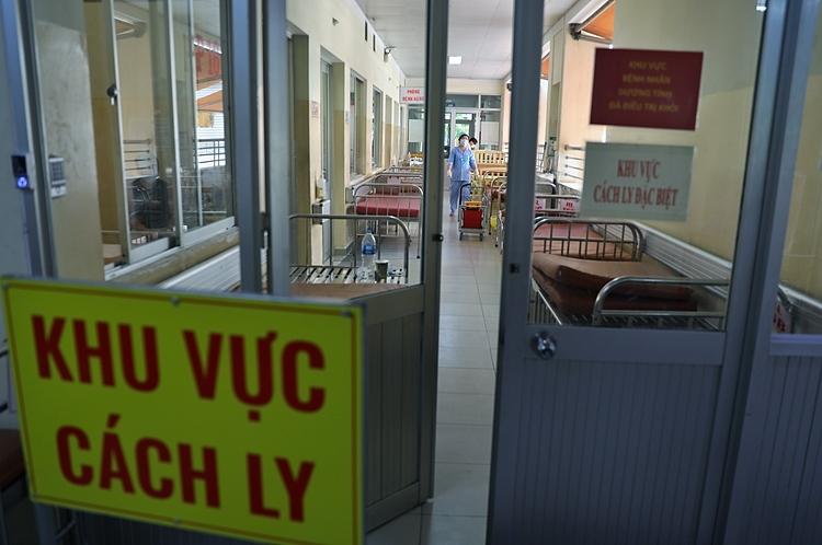 Khu vực cách ly bệnh nhân tại Bệnh viện Bệnh Nhiệt đới TP HCM. Ảnh: Hữu Khoa.