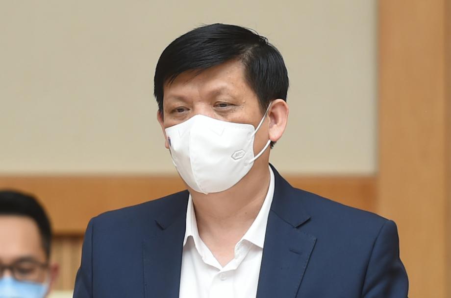 Bộ trưởng Bộ Y tế Nguyễn Thanh Long phát biểu tại cuộc họp. Ảnh: VGP.